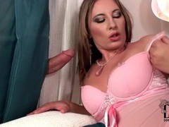 She sucks mystery dick in pink lingerie movies at find-best-lingerie.com