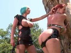 Girl tied to a tree outdoors and spanked movies at adipics.com