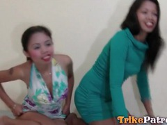 Two asian prostitutes in pussy eating video tubes at thai.sgirls.net