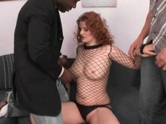 Horny redhead in lingerie sucks dicks videos
