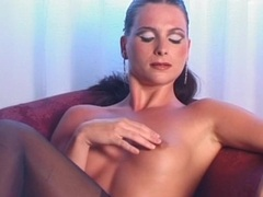 Beauty in lingerie dildo fucks her vagina movies at freekilomovies.com