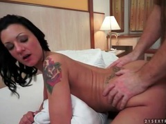 Doggystyle with tattooed girl makes him cum movies