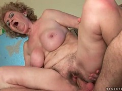 Old lady pussy sits hard on his big young cock movies at sgirls.net