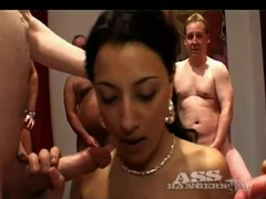 Gangbang fuck finds tight bodies filled with cock videos