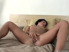 Teen hairy pussy masturbation is sultry videos