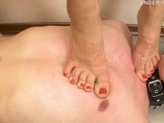 Close up on sexy trampling and lovely toe sucking videos