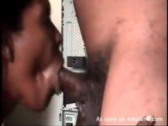 Ebony blowjob in close up is arousing videos