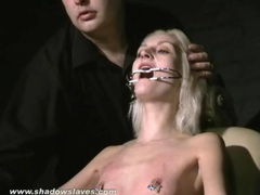 Tongue torture and tit pain for skinny blonde videos