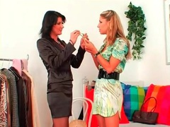 Stylist helps hot chick pick out lovely outfit movies at sgirls.net