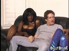 Hot black girls and white guy get frisky movies at sgirls.net