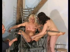 Lesbian dildo play in a bdsm video clip videos