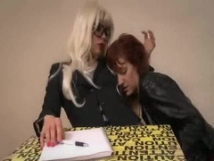 Femdom teacher has her lesbian student get her off videos