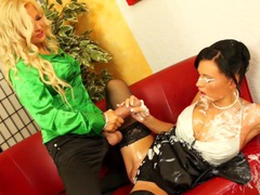 Jenna lovely and ema black bukkake sprayed in high def movies at find-best-babes.com