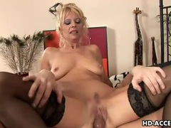 Black stockings are sexy on mature blonde he fucks videos