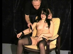 Cute bound girl suffers electro pussy pain videos