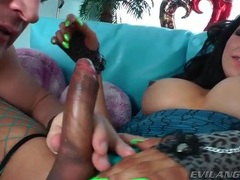 Big boobs tgirl gives wonderful blowjob movies at kilotop.com