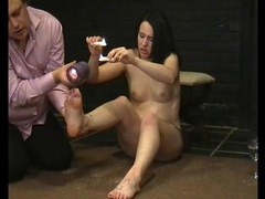 Hot wax dripping on her feet causes pain movies at kilotop.com