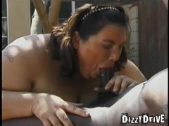 Fat women suck dicks to hardness outdoors videos