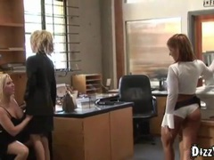 Lesbian orgy in the office videos