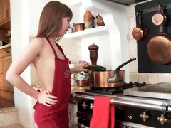 Chef girl teases body and sucks on zucchini movies at find-best-ass.com