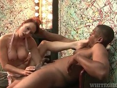 Flexible redhead gives blowjob to black cock videos