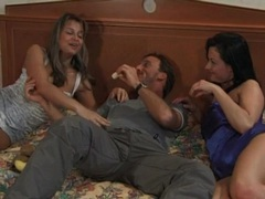 Hotel room foreplay with a pair of hot babes videos