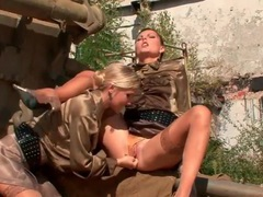 Girls strip outdoors under orders from mistress movies at kilopills.com