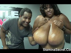 Hot ebony minxx got a big boobs tubes