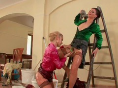 Lesbians get wet and gooey and they fondle movies at sgirls.net