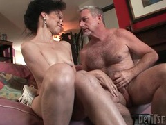 Mature slut gives head to big old man cock videos
