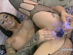 Busty hottie austin lynn fucks a dildo videos