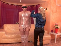 Girl wraps him in plastic and sucks his dick movies at find-best-mature.com