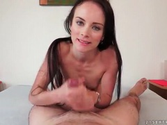 Skinny cocksucker gets facial in pov videos