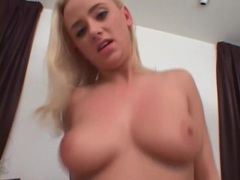 Cum on her face and tits after a nice handjob movies at kilopics.net