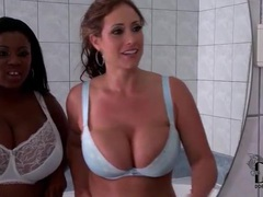Their huge natural tits look hot in bras movies at kilovideos.com