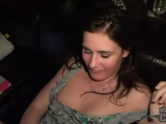 Fucked amateur brunette takes hot facial videos