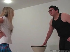 Schoolgirl knees him in the balls over and over videos