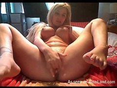 Sexy big round tits on finger fucking blonde movies at sgirls.net