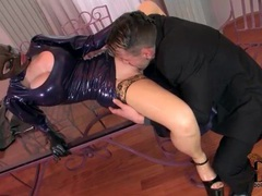 He licks latex girl and fucks her hardcore movies at lingerie-mania.com