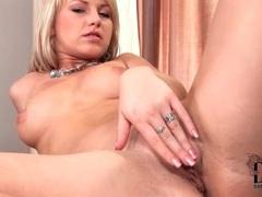 Little boobs blonde girl masturbates sensually movies