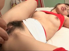 Hairy young twat of japanese slut filled with cock videos