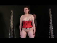 Through her torture session a girl cries quietly videos
