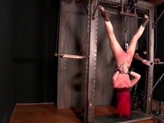Upside down bound girl with dildo machine fucking her videos