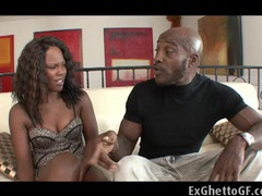 Two black beauties banged by a monster movies at kilosex.com