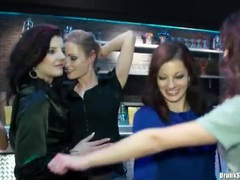 Party in a bar with naughty girl foreplay videos