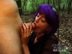 Total slut bends over in woods for sex movies at sgirls.net