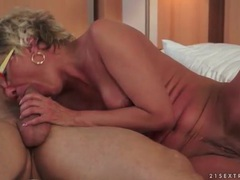 Blonde mom gives good head and rides the boner movies at find-best-lesbians.com
