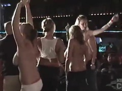 Girls with big tits dance at a party videos