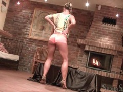 Silvia saint shakes her ass in boyshort panties videos