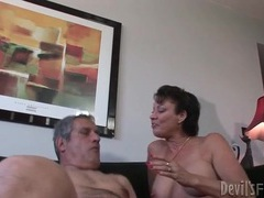 Milf takes a poking in her hairy old pussy videos